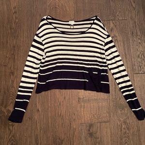 NWOT relaxed striped crop shirt